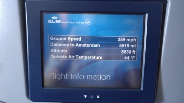 Shortly after takeoff...only 5919 miles (and about 11 hours) to go