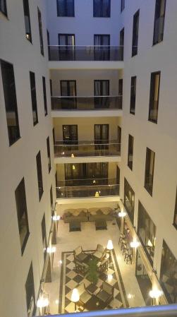The atrium of my hotel
